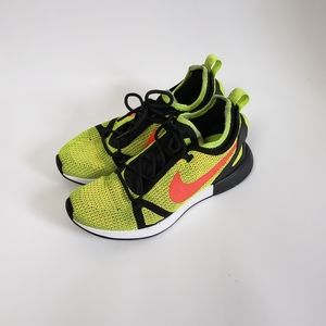 NIKE Neon Green Orange Running Sneakers Size 8